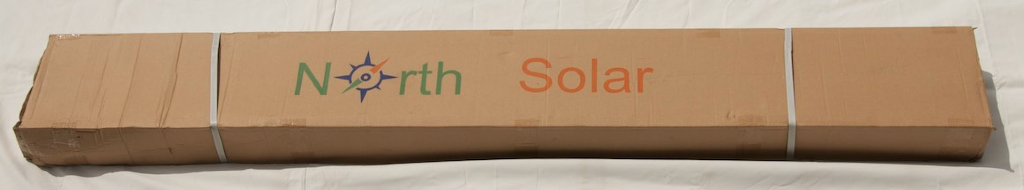 Stand for North Solar hotwater system is packaged in a carton